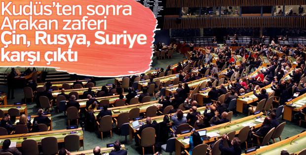 BM'nin Arakan kararı kabul edildi