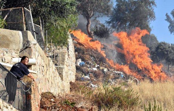 Bodrum'da üst üste çıkan yangınlar isyan ettirdi