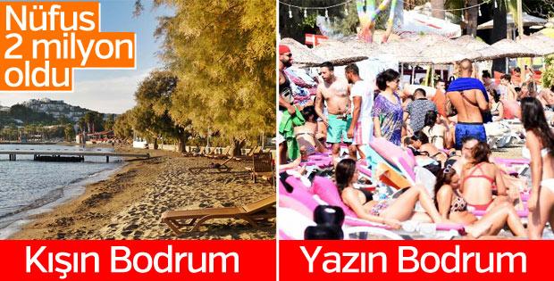 Bodrum 2 milyon tatilciyi ağırlıyor