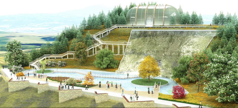 Botanik  a 103 dönümlük botanik parkı geliyor