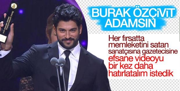 Burak Özçivit'ten Türk halkına övgü