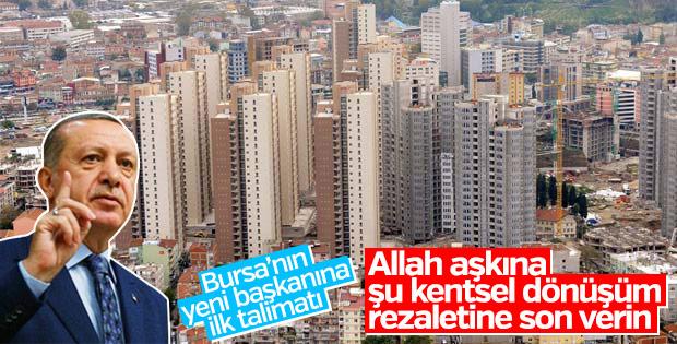 Cumhurbaşkanı'ndan Bursa'ya kentsel dönüşüm uyarısı
