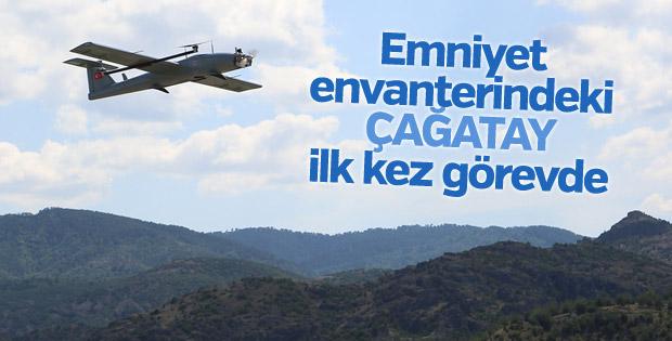 Emniyet'in insansız hava aracı Çağatay görev başında