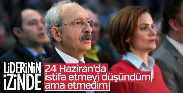 Canan Kaftancıoğlu'nun istifa etmeme bahanesi