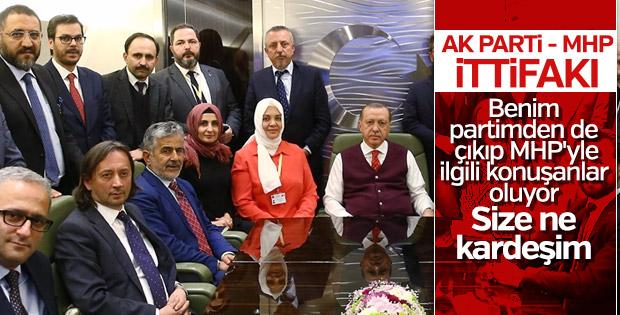 Cumhurbaşkanı, MHP ittifakı hakkında konuştu