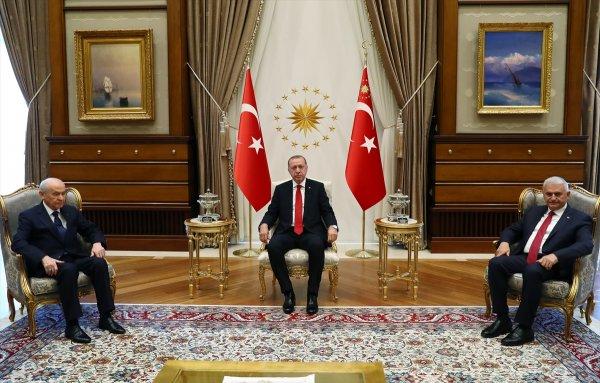 Cumhurbaşkanı Erdoğan MHP Lideri Bahçeli görüşmesi