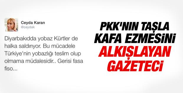 Ceyda Karan'dan PKK vahşetini savunan tweet