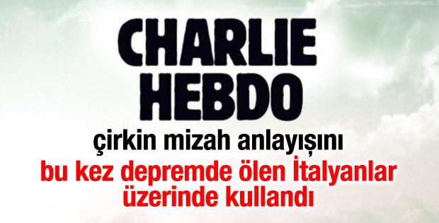 Charlie Hebdo'dan İtalyanları kızdıran karikatür
