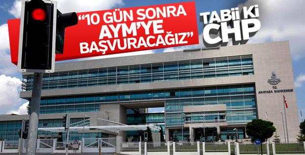 CHP, içtüzük değişikliğini AYM'ye taşıyacak