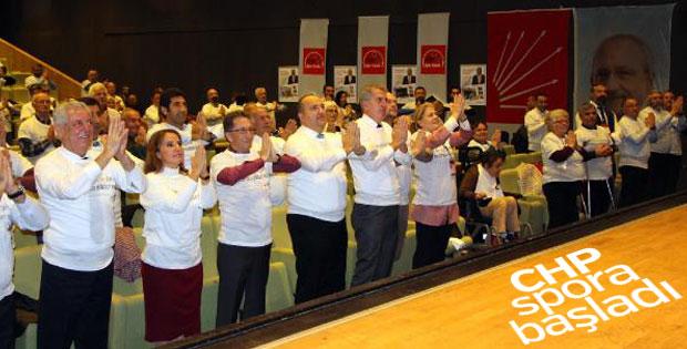 CHP'liler toplantıya sporla başladı