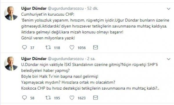 CHP'lilerin eleştirileri Uğur Dündar'ı kızdırdı