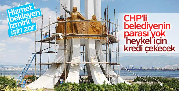 CHP'li belediye heykel için kredi çekecek