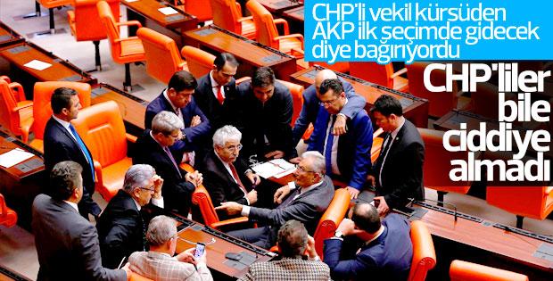 CHP'li vekilden CHP'lilerin ilgisini çekmeyen konuşma