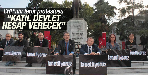 Bursa'da terör protestosunda 'Katil devlet' sloganları