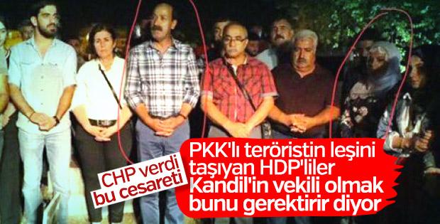 PKK cenazesine katılan HDP'lilerin küstahlığı