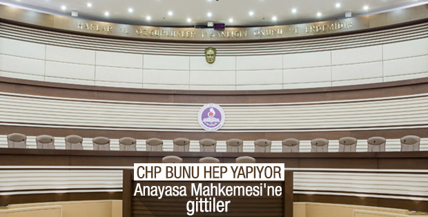 CHP Anayasa Mahkemesi'ne gitti