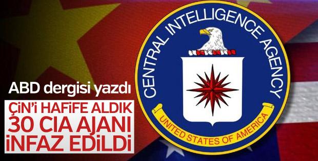 Çin'de 30 CIA ajanı öldürüldü iddiası