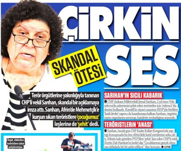 CHP'li Şenal Sarıhan teröristlere şehit dedi