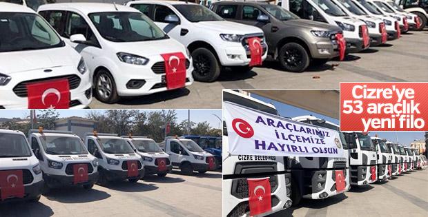 Cizre Belediyesi'ne 53 araç tahsis edildi