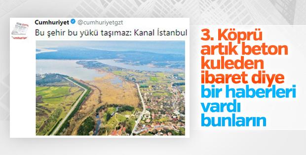 Cumhuriyet'in Kanal İstanbul haberi