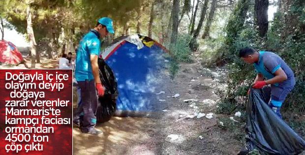 Tatilcilerden geriye 4 bin ton çöp kaldı