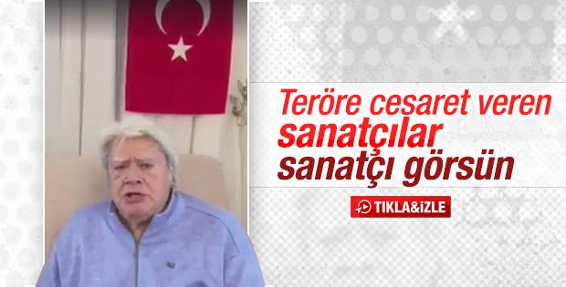 Cüneyt Arkın'dan teröre tepki videosu - İZLE