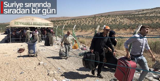 Cilvegözü Sınır Kapısı'nda Suriyeli yoğunluğu