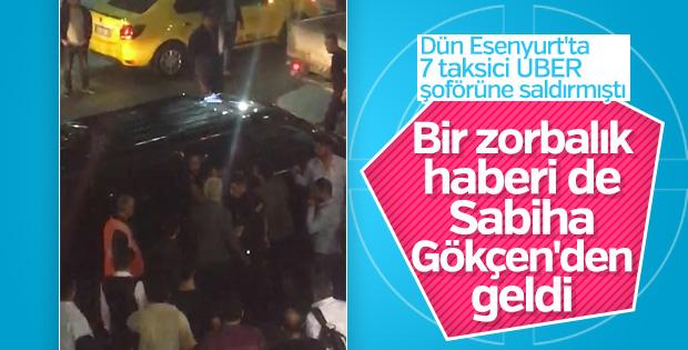 Sabiha Gökçen'de UBER aracına saldırı