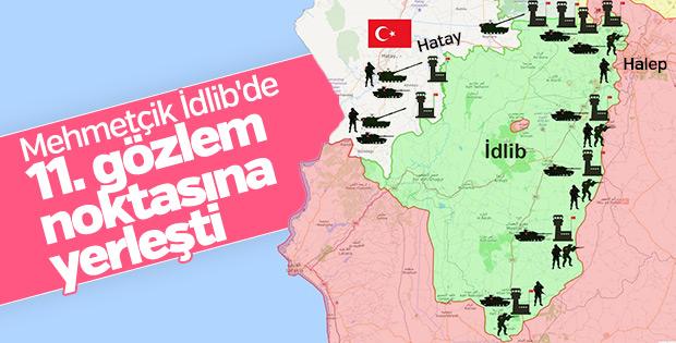 TSK İdlib'de 11. ateşkes gözlem noktasını kurdu