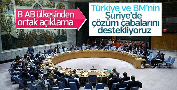 8 AB ülkesinden Türkiye'ye destek geldi