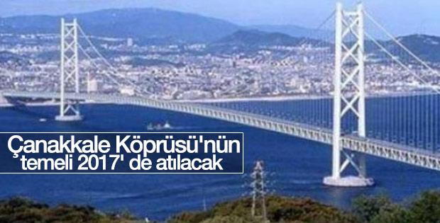 1915 Çanakkale Köprüsü'nün temeli 2017' de atılacak