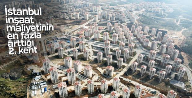 İstanbul, inşaat maliyetinin en fazla arttığı 2. kent