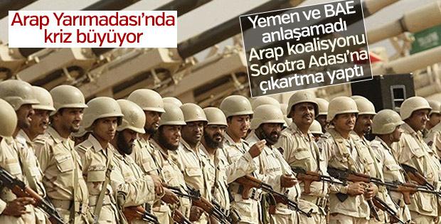 Arap koalisyonu Yemen krizi için asker gönderdi