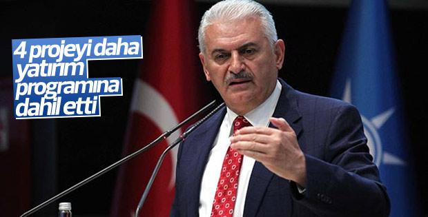 Başbakan Yıldırım 4 yeni projeyi yatırım programına ekledi