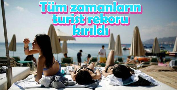 Türkiye turist sayısında rekor kırmaya devam ediyor
