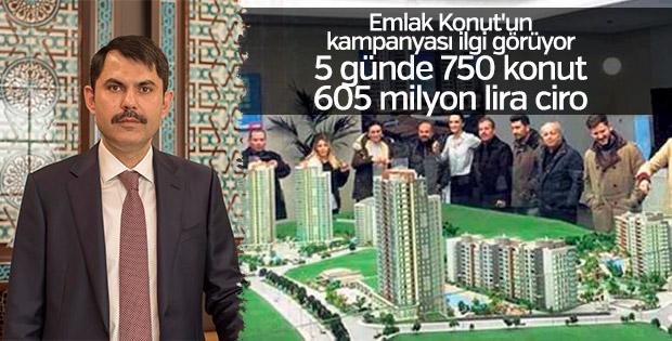 Emlak Konut'tan 5 günde 650 milyon lira ciro