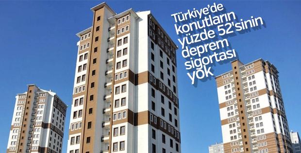 Türkiye'de konutların yüzde 52'sinin deprem sigortası yok