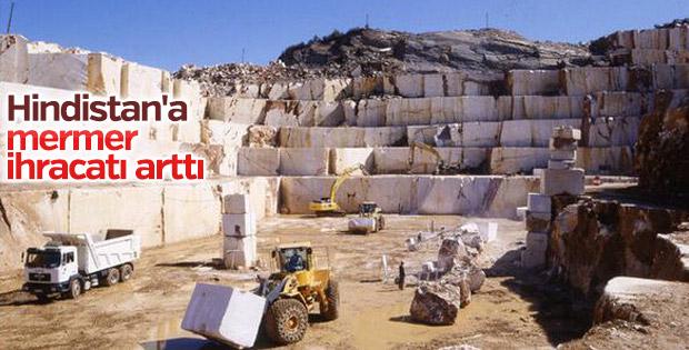 Hindistan'a mermer ihracatı arttı