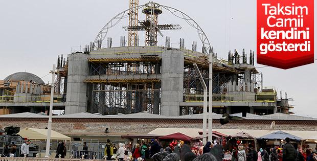 Taksim Camii'nin ana kubbesinin yapımına başlandı