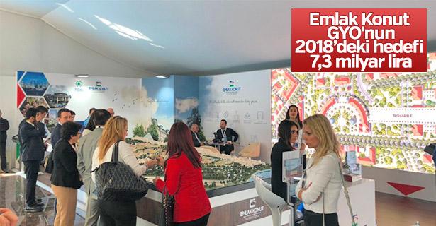 Emlak Konut'un 2018'deki hedefi 7,3 milyar lira