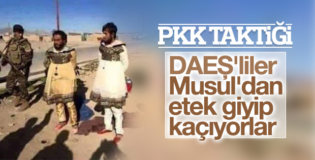 DAEŞ'liler etek giyip kadın kılığında kaçıyor