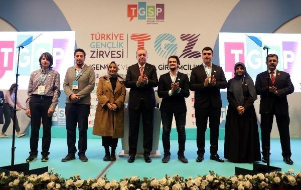 Başkan Erdoğan gençlere hitap etti