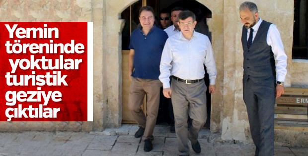 Davutoğlu ve Babacan, Erdoğan'ın törenine katılmadı