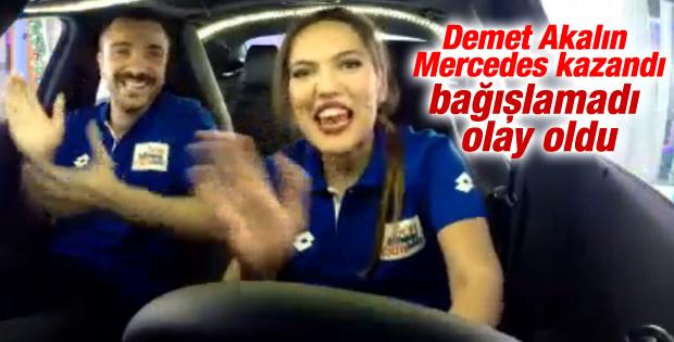 Demet Akalın yarışmadan Mercedes kazandı