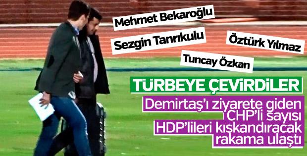 CHP vekilleri Demirtaş'ı HDP'den çok ziyaret etti