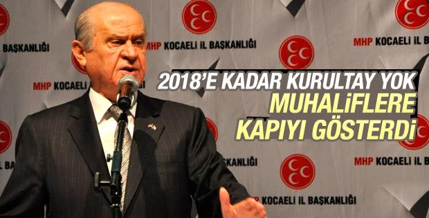 Devlet Bahçeli: MHP arınma mevsimine giriyor