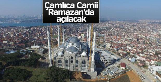 Çamlıca Camii 2018 yılında hizmete sunulacak