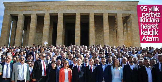CHP'den Anıtkabir'e 95. yıl ziyareti