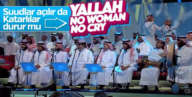 Katarlı sanatçıdan 'No Woman, No Cry' performansı