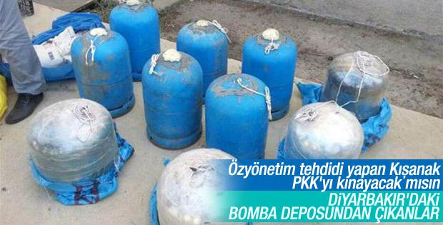 Diyarbakır'da PKK'nın bomba deposu ortaya çıktı